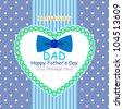 Happy Father's Day Greeting Card / Bow Tie Design - stock