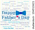 Happy Father's Day Greeting Card / Bow Tie Design / Typography Design - stock