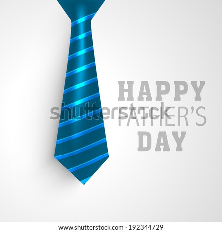 Happy Father's Day greeting card design with necktie on grey background. - stock vector