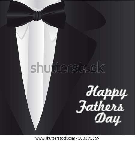 Happy Father's Day, holiday card with formal suit and tie - stock vector