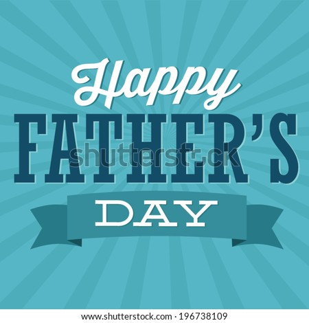 Happy Father's Day Ribbon Vector - stock vector