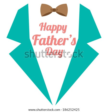 Happy Father's Day Vector Illustration  - stock vector