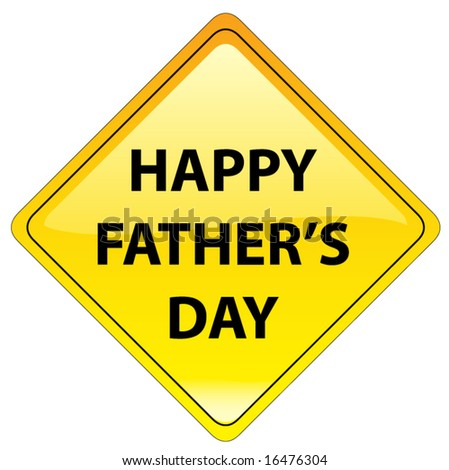 Happy Fathers day message - also available as JPEG - stock vector