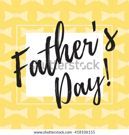 Happy Fathers Day typographical background.  - stock vector