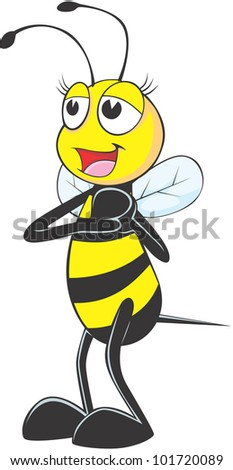 Happy Female Bee in love