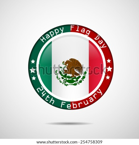Happy Flag Day text with effects for Mexico Flag Day