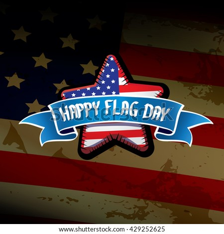 Happy flag day vector background. flag day USA banner. Happy flag day greeting card. Flag day Sale