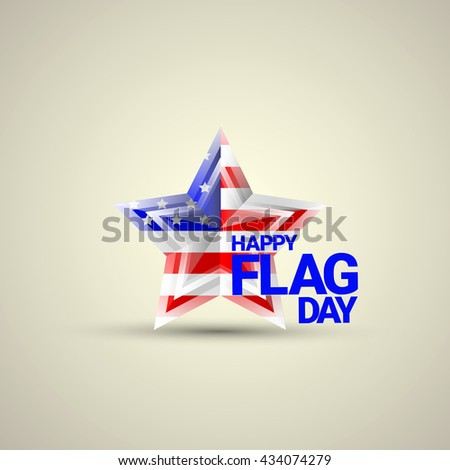 Happy flag day vector background. flag day USA banner. Happy flag day label. Flag day Sale - stock vector