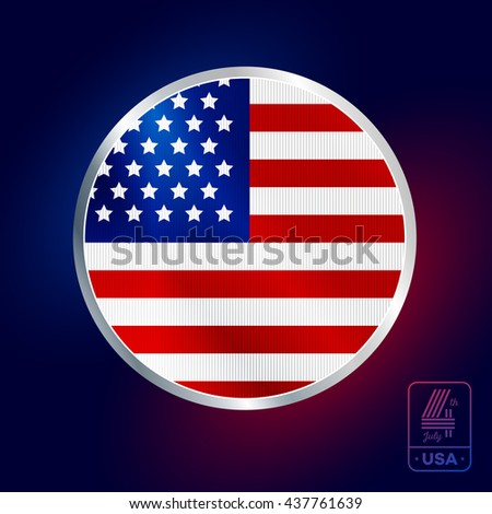 Happy fourth of July. Vector elements for American Independence Day on dark background - stock vector