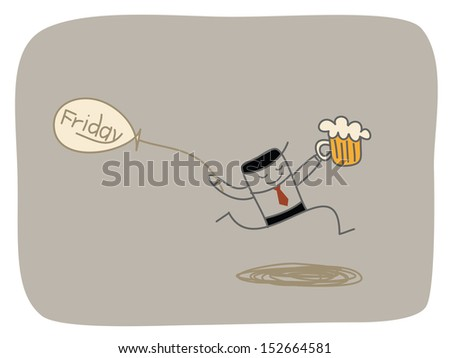happy friday - stock vector