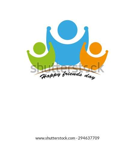 happy friends day - stock vector