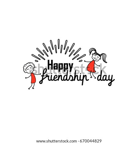 Happy Friendship Day Vector Typographic Design Stock Vector