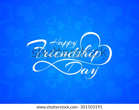 Happy Friendship Day vector card design. - stock vector