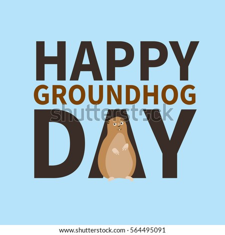 Happy groundhog daylogo icon cute happy stock vector royalty free happy groundhog daylogo icon cute happy marmot perfect for greeting cards m4hsunfo
