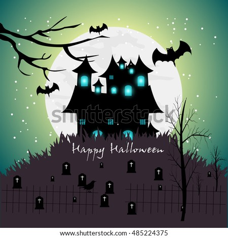 Happy halloween background ,happy halloween vector .