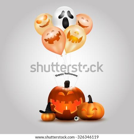 Happy halloween background. vector - stock vector