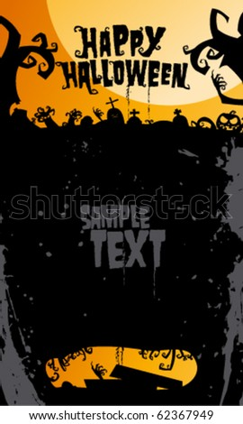 Happy halloween background, with place for text..