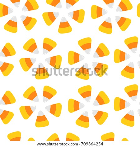 happy halloween candy corn seamless pattern stock vector 709364254 shutterstock