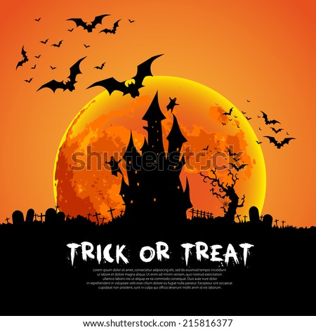 Happy Halloween Card Template Mix Various Stock Vector