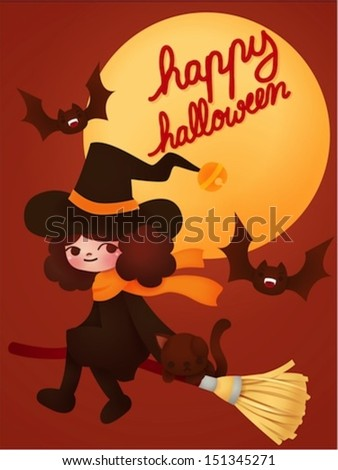 Happy halloween card - Vector File EPS10 - stock vector