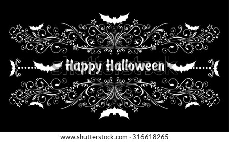 Happy Halloween! Celebration background with bat and place for your text. Vector illustration  - stock vector