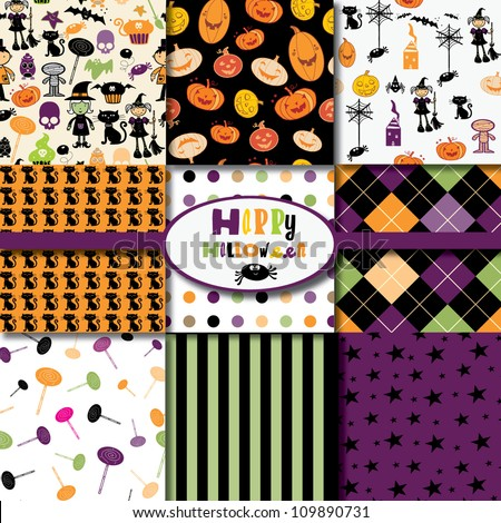 Happy Halloween Collection - stock vector