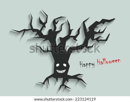 Happy Halloween day, vector illustration design background.... - stock vector