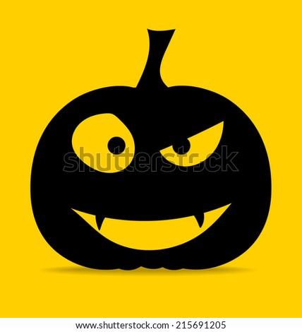 Happy Halloween design background with Halloween pumpkin. Vector illustration. - stock vector