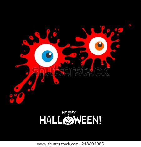 Happy Halloween! Halloween card. vector illustration - stock vector