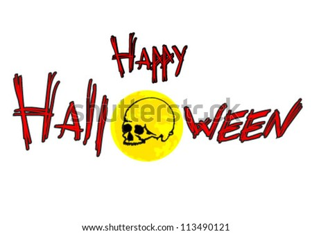 Happy Halloween Illustration - stock vector