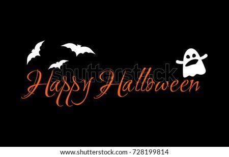 happy halloween message design greeting card stock vector 728199814
