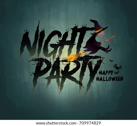 happy halloween night party vector illustration - Halloween Night Party