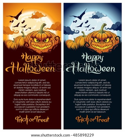 Happy Halloween party poster, flyer, banner