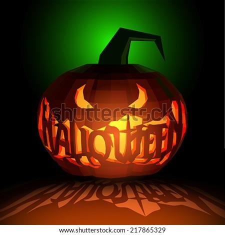 Happy halloween party pumpkins - stock vector