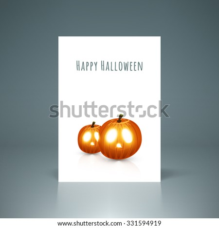 Happy Halloween poster, card for your party vector stock eps 10 illustration - stock vector