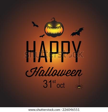 Happy Halloween Poster 31 oct - stock vector
