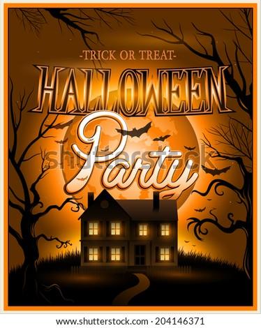 Happy Halloween Poster Vector illustration eps10 - stock vector