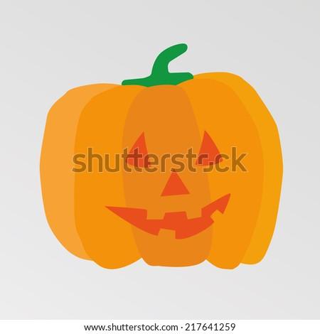 Happy Halloween Pumpkin, Jack O Lantern - stock vector