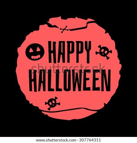 Happy Halloween vector card. Halloween border for design. - stock vector