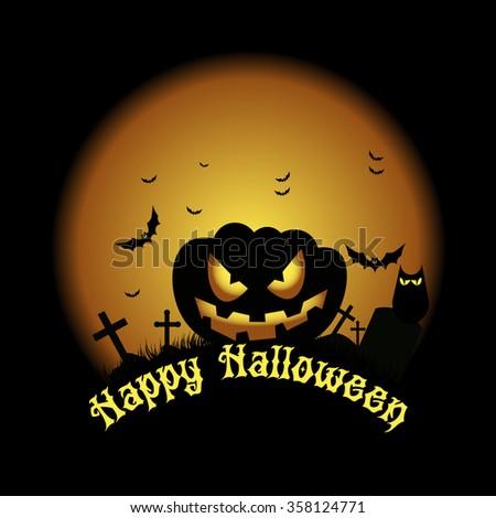 Happy Halloween. Vector illustration. EPS10 - stock vector
