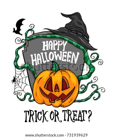 happy halloween vector for card and invite halloween party advertising