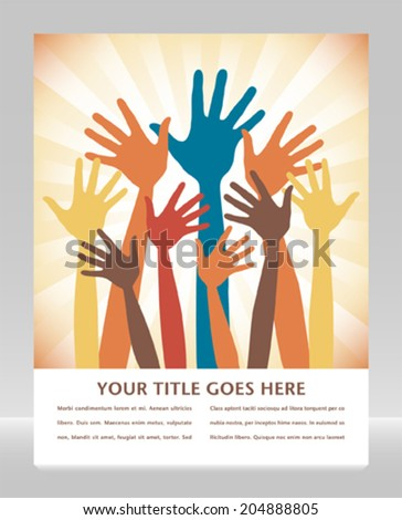 Happy hands design with space for your text.  - stock vector