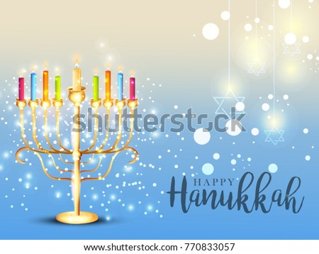 Happy hanukkah greeting card invitation card design jewish stock happy hanukkah greeting cardinvitation card designjewish holiday m4hsunfo