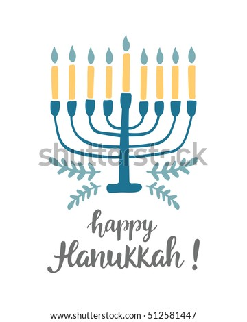 Happy hanukkah greeting card hand written stock vector 512581447 happy hanukkah greeting card with hand written modern brush lettering and menorah jewish holiday elegant m4hsunfo Image collections