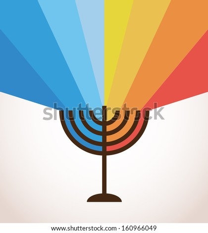 happy hanukkah; jewish holiday - stock vector