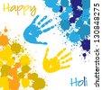 Happy Holi card in vector format. - stock vector