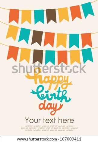 happy holiday card. vector illustration - stock vector