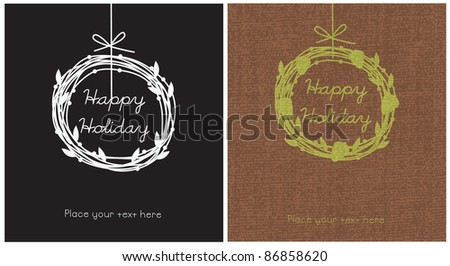 Happy Holiday Cards - stock vector
