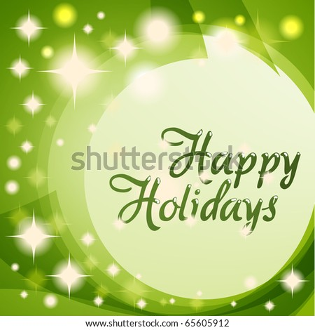 Happy Holiday Greetings - stock vector