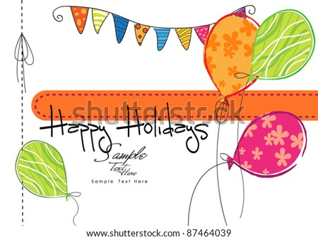 Happy Holidays! - stock vector